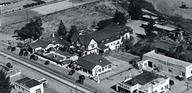 Arial shot of old Buelton