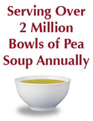 Serving over 2 million bowls of pea soup annually.